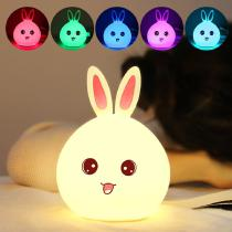 Silicone-Rabbit-Colorful-LED-Night-Light-For-Children-Baby-Kids-Lamp