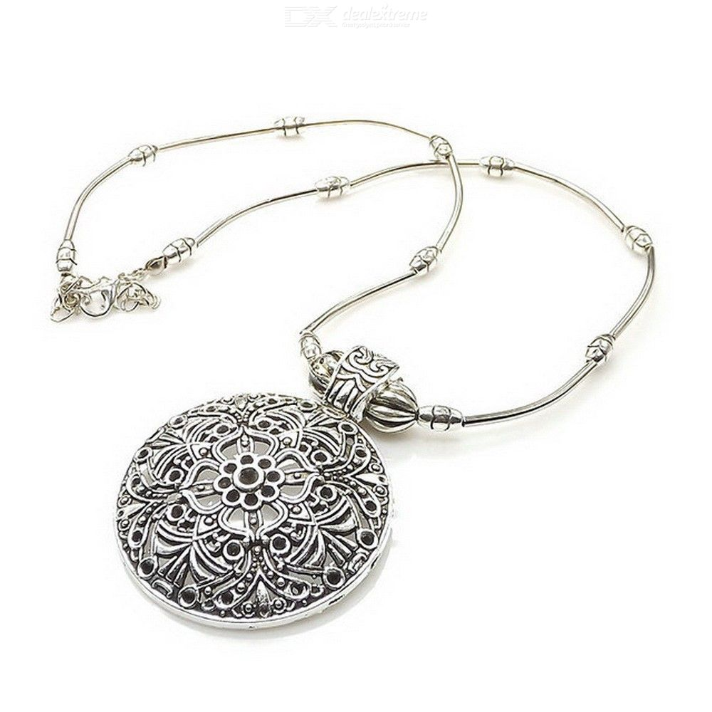 Silver-plated Necklace Vintage Pendent Necklace For Women