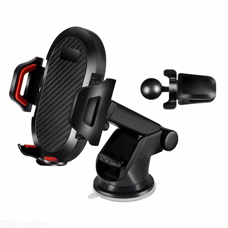 Universal Car Phone Mount Retractable Cell Phone Holder For 3 - 7 Inch Mobile