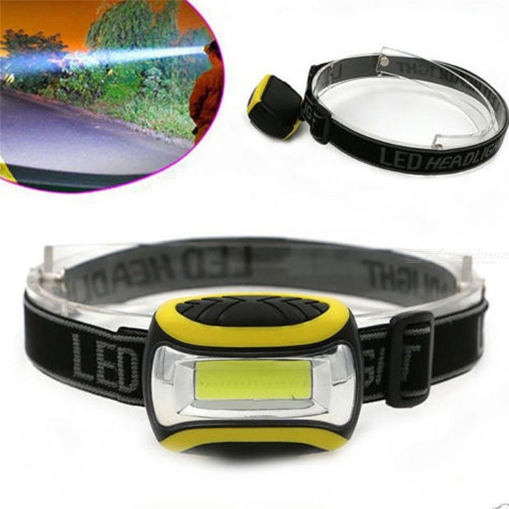 COB LED Headlamps Strong Light 3 Modes Lantern For Hunting Night Fishing