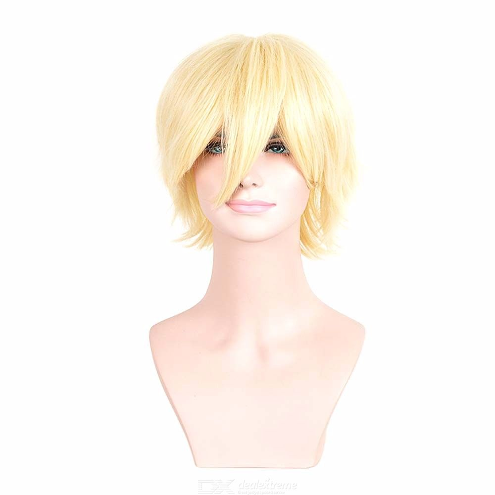 Heiwajima Shizuo Cosplay Wig Short Colored Straight Synthetic Hair