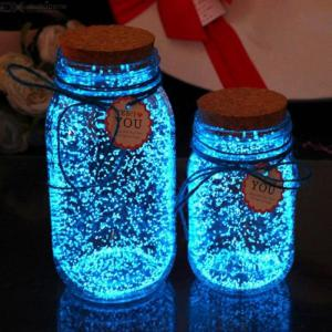 10g Fluorescent Powder Super Bright Glow In The Dark Luminous Pigment For DIY Wishing Bottle - Sky Blue