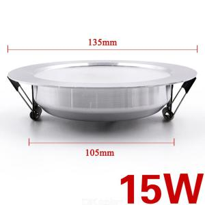 135mm X 105mm Round LED Downlight 15W Ceiling Lamp Fixture For Living Room Hotel