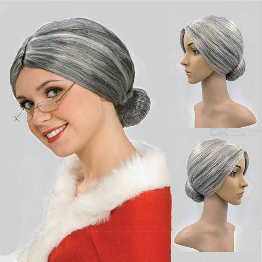 Costume Granny Wig Old Lady Cosplay Wig For Dressing Up Party