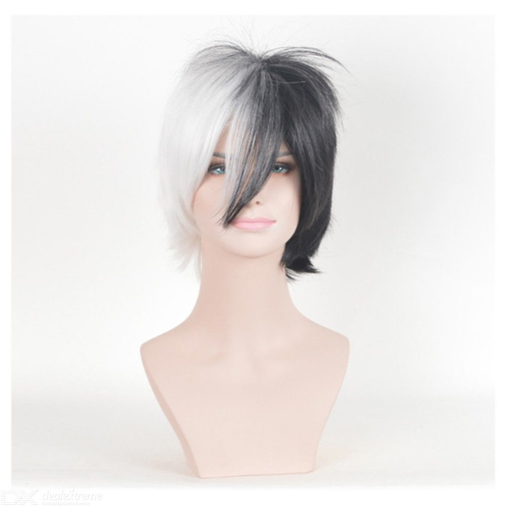 Monokuma Cosplay Wig Two-tone Stylish Hair For Costume Play Party