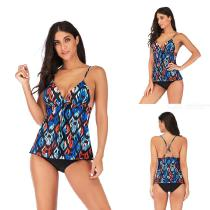 Womens-Two-Piece-Swimsuit-Stylish-Strapy-Print-Tops-And-Briefs