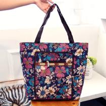 Fashion-Handbags-Casual-Floral-Print-Zipper-Large-Capacity-Nylon-Shopping-Bags-For-Women