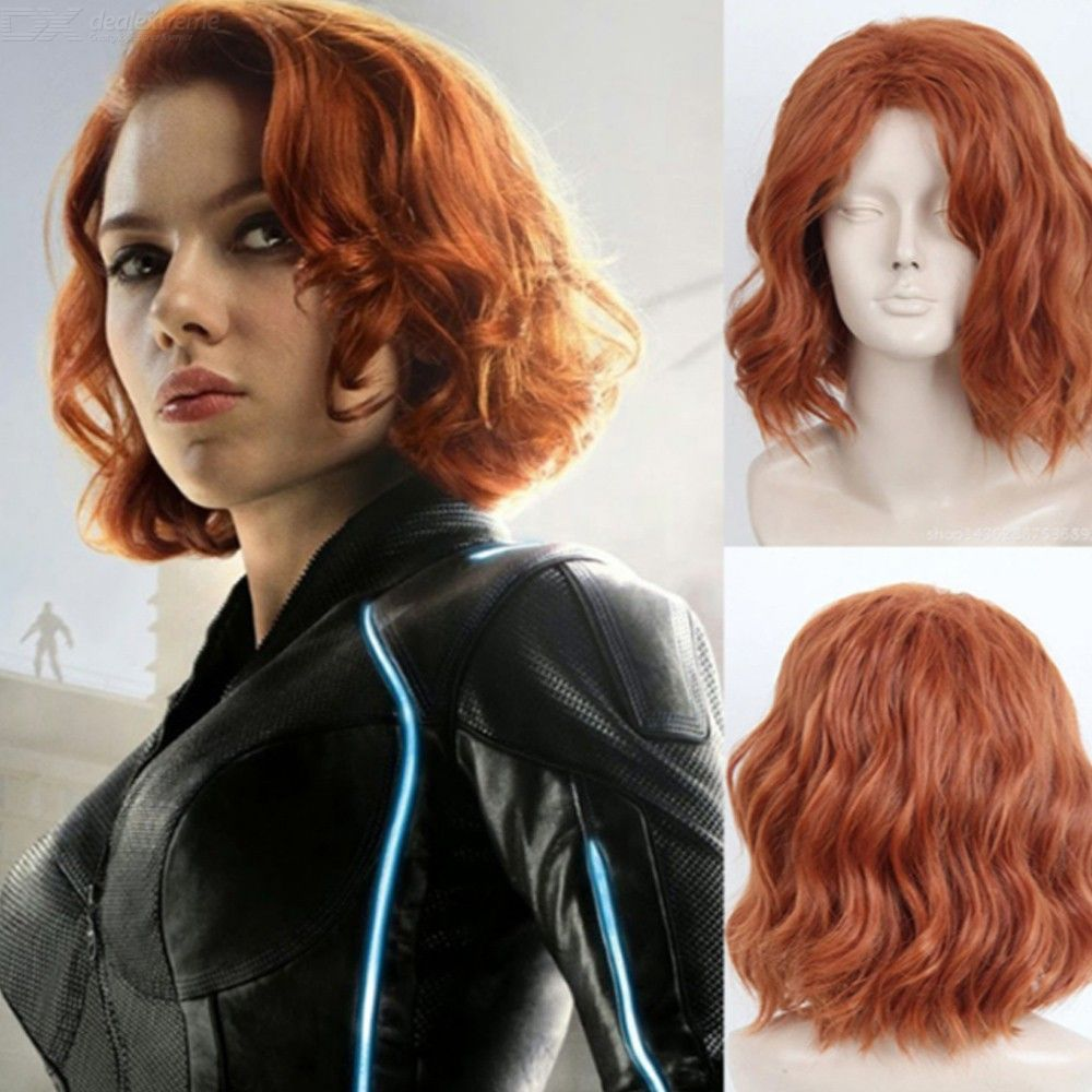 Black Widow Cosplay Wig The Avengers Costume Party Play Accessory