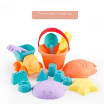 14PcsSet-Water-Fun-Beach-Sand-Toys-Soft-Rubber-For-Children-Playing-Castle