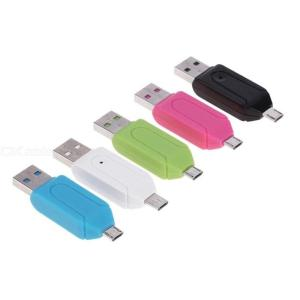Micro USB OTG To USB 2.0 Adapter SD TF Card Reader For Android Phone / Laptop