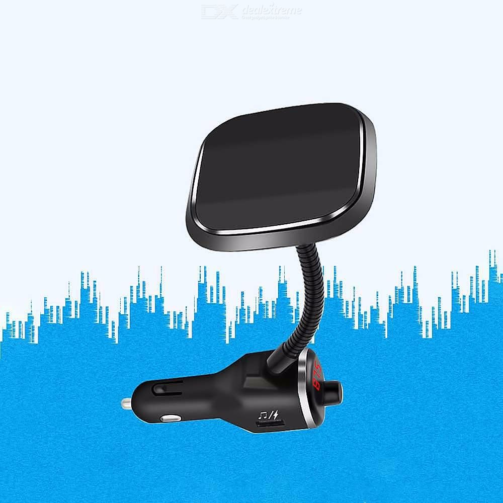 5V 2.1A Fast Wireless Car Charger Bluetooth 5.0 Dual USB Broadcast Call Play Caller