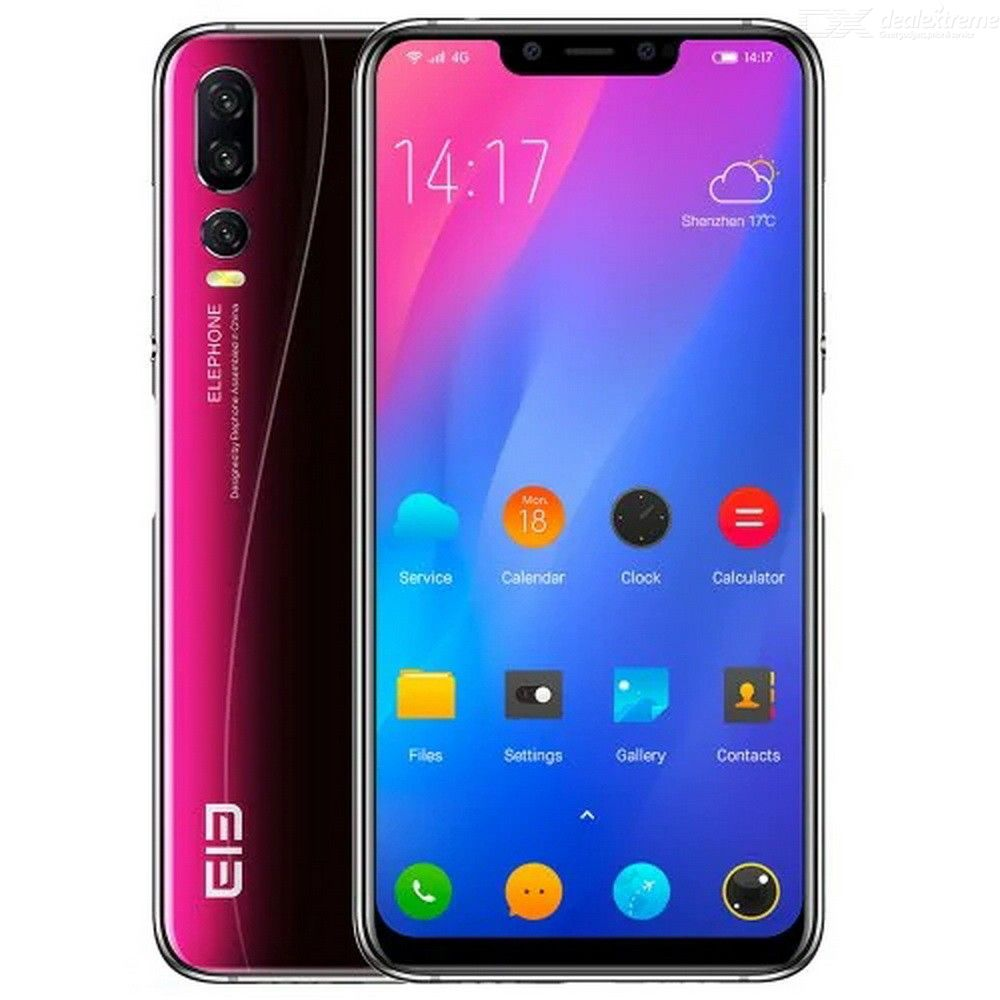 (EUROPEAN UNION)Elephone A5 4G Phablet 4000mAh 6.2 Inch 8 Core 4GB RAM 64GB ROM Android 8.1 Mobile Phone - TWILIGHT