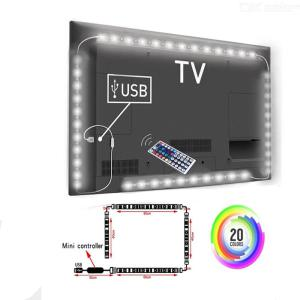 2x50cm + 2x100cm 5V USB RGB LED Strip Lights 5050 SMD Fairy Strip Light TV Back Lighting Kit 44key Remote Control