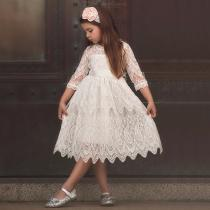 Princess-Girls-Dress-Cute-Lace-Floral-Hollow-Knee-Length-Tulle-Dresses-For-Kids