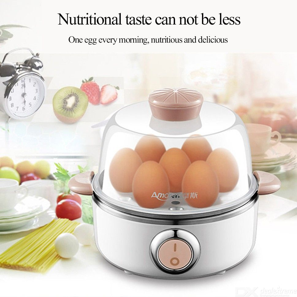 AD-Q31 220V Multifunctional Electric 7 Eggs Boiler Cooker Mini Steamer Poacher Kitchen Tool 360W
