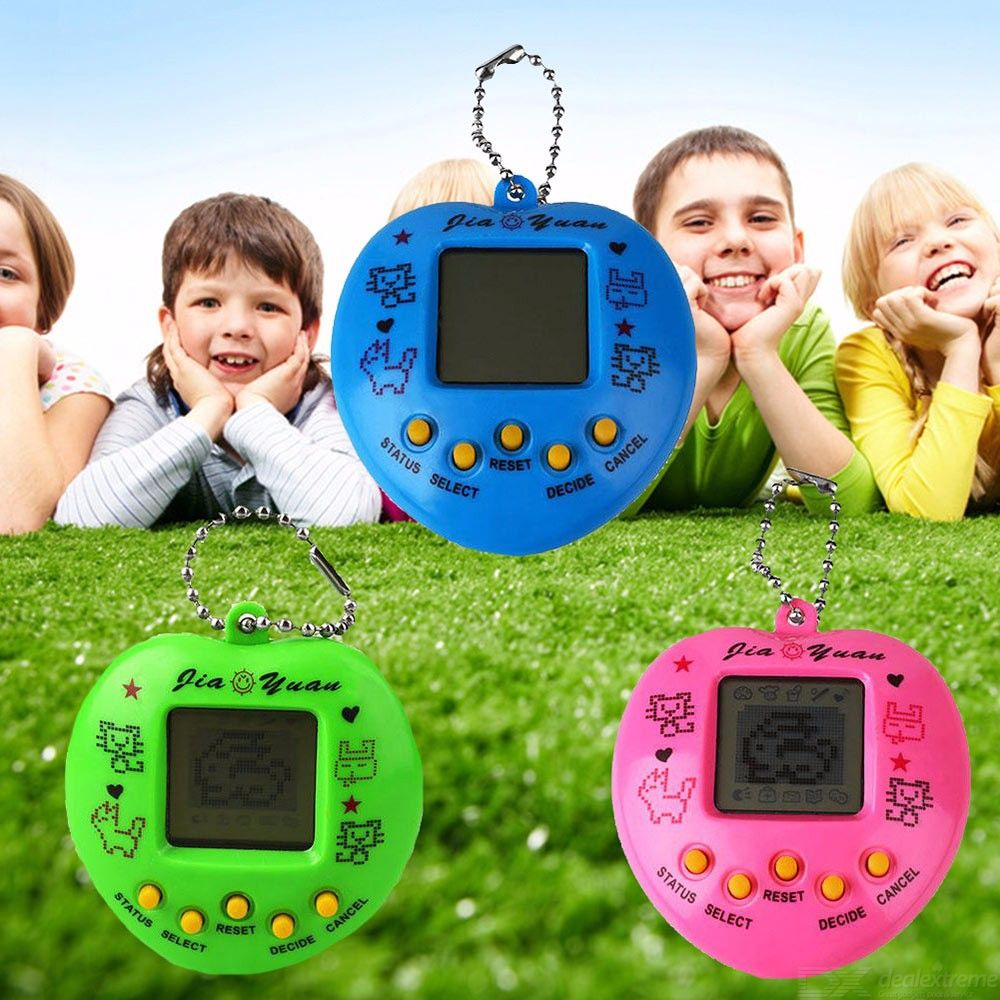 Children Funny Players Handheld Video Gaming Controller Peach Heart-type Game Consoles Random Color