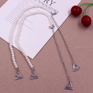6mm Women Adjustable Bra Straps Pearl Beads Invisible Shoulder Strap With 1.8cm Hook