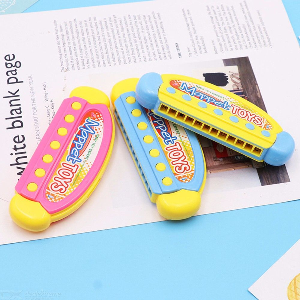Kids Cartoon Plastic Harmonica Toys Fun Musical Early Educational Gift Toy