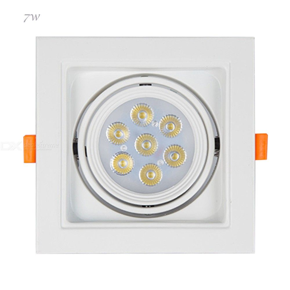 560lm 7W LED Bean Gallblader LED Light Led Ceiling Grille Lamp 140x140mm - from $12.74
