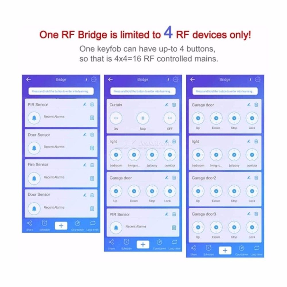 Home Security Remote Smart Switch RF Bridge WIFI To 315/433mhz Remote  Control Support EWelink APP