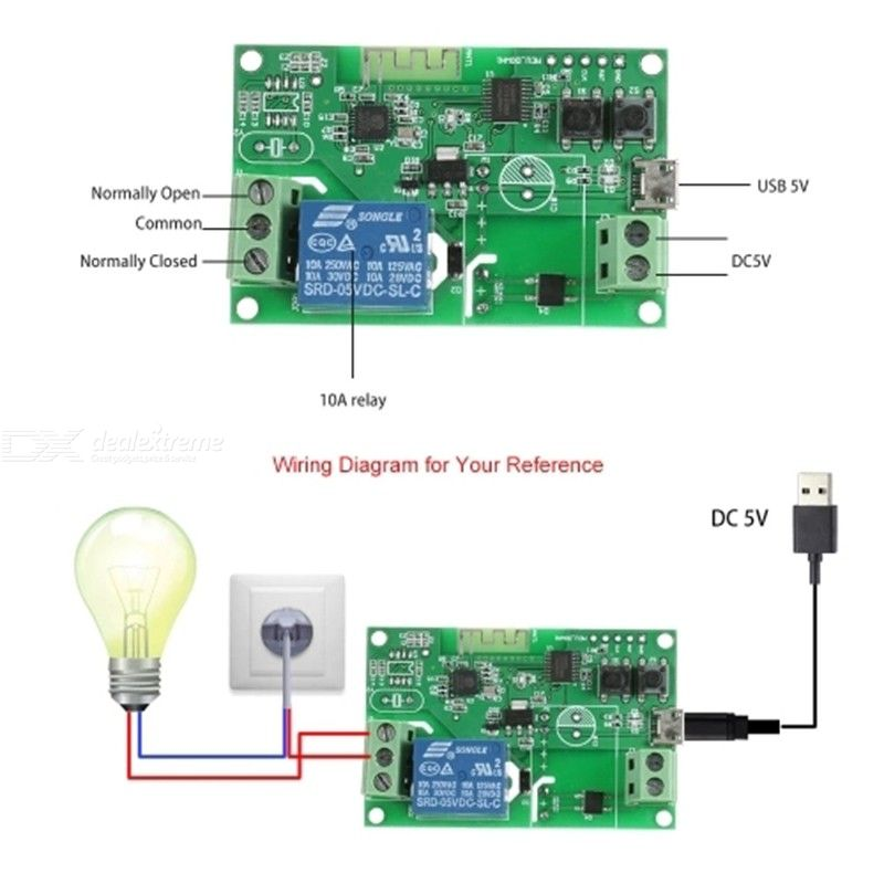 Home Automation - D5V Single Channel Wifi Model Wireless