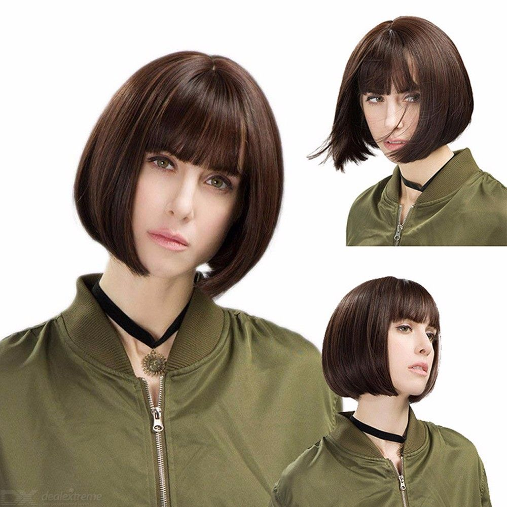 Mathilda Cosplay Wig Life-like Léon Character Costume Play Hair Bob Wig