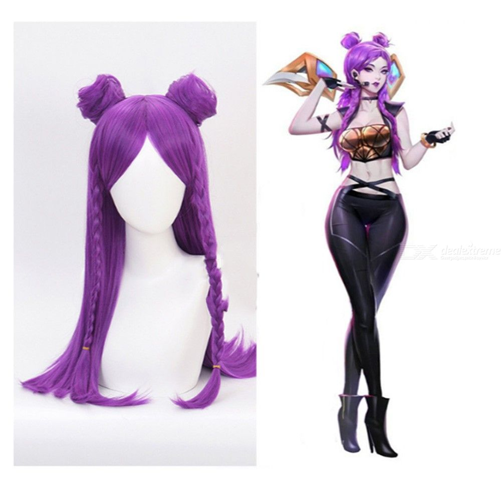Kaisa Cosplay Hair LOL KDA Costume Play Wig Cap Cosplay Accessory