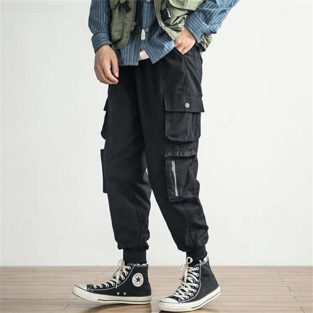 Mens Loose Trousers Safari Style Mid Waisted Cargo Pants Free Shipping Dealextreme