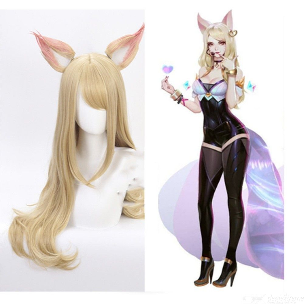 Ahri Costume Wig Life-like LOL Cosplay Hair For Costume Party