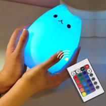 Cute-Kitty-LED-Children-Night-Light-Kids-Silicone-Cat-Lamp-7-Color-Flashing-USB-Warm-White-Light-Soft