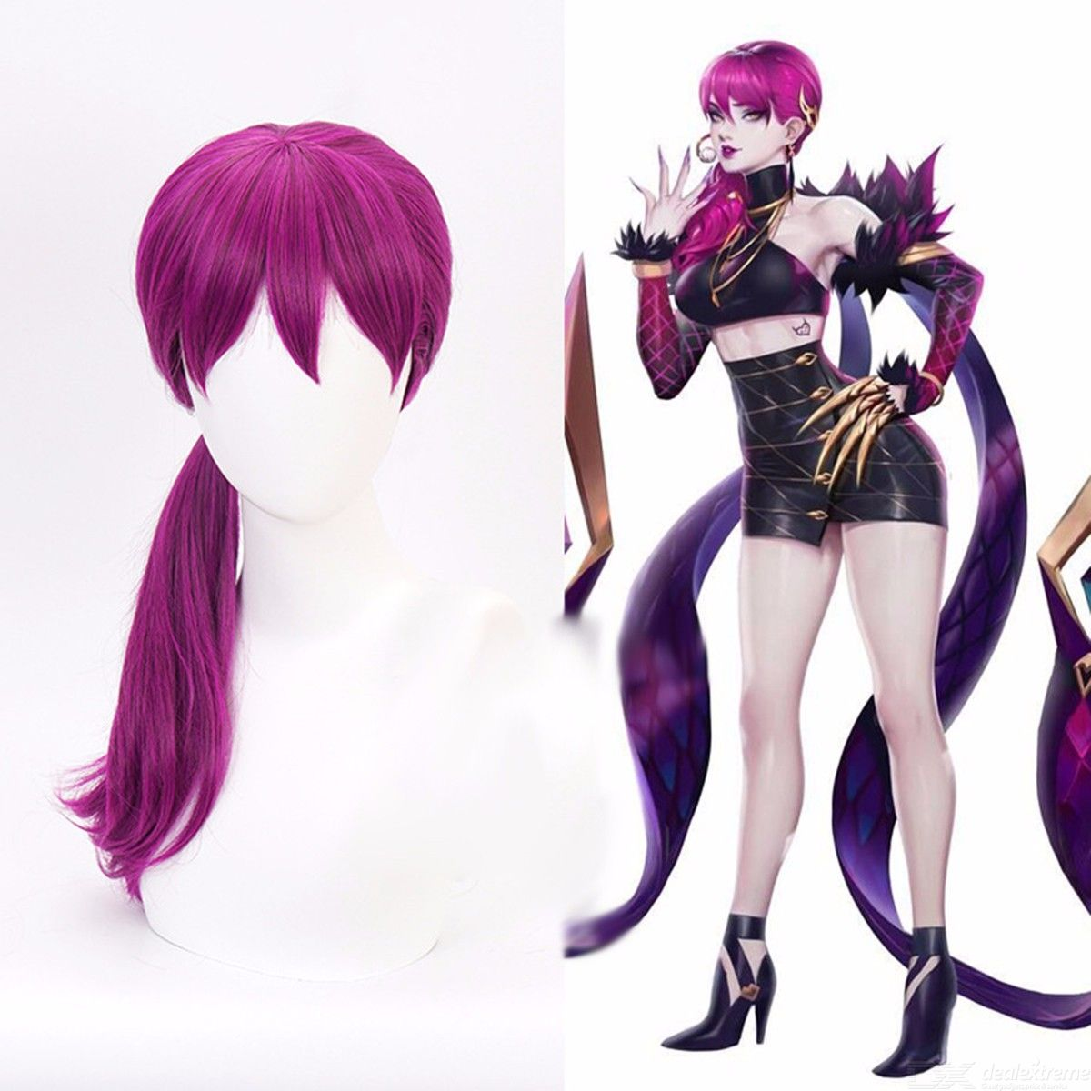 Evelynn Cosplay Wig Agonys Embrace Hair Character Of LOL KDA Costume Play Hair