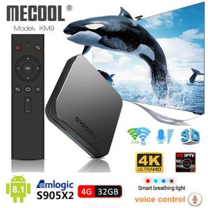 KM9 Android 8.1 Smart TV Box Voice Control S905X2 4GB DDR4 RAM 32GB ROM 2.4G 5G WiFi Bluetooth 4.1 4K
