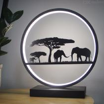 30-X-33cm-Modern-Decorative-Light-Metal-Elephant-LED-Lamp-For-Home-Decoration