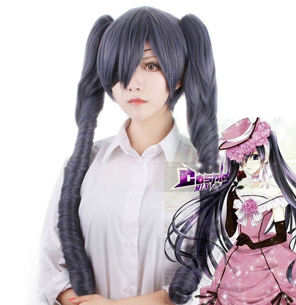 Ciel Phantomhive Cosplay Wig Anime Costume Play Accessory For Black Butler
