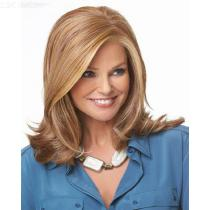 33CM-Womens-Medium-Wavy-Wig-Middle-Part-High-Temperature-Fiber-Hair