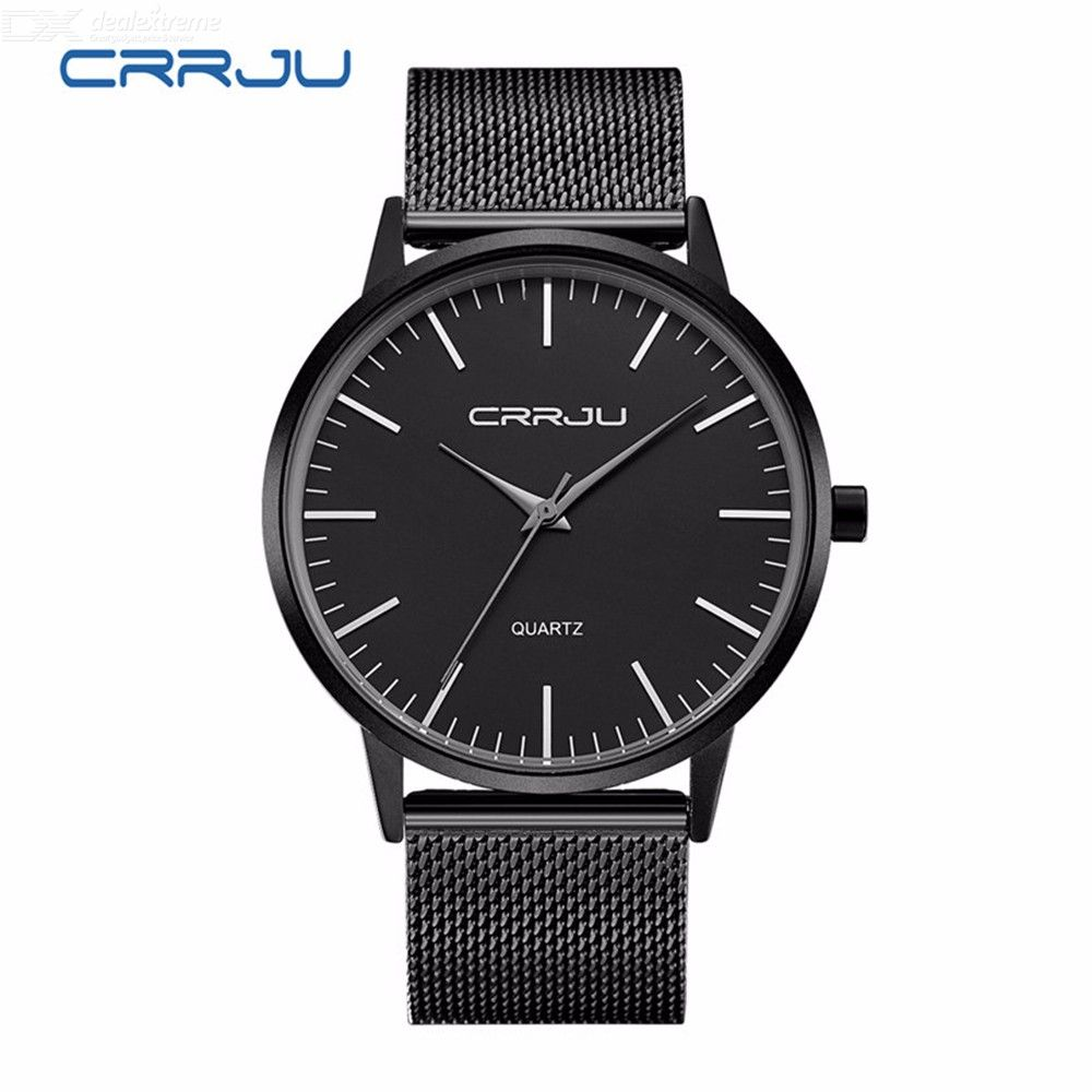Fashion Ultrathin Men's Watch Waterproof Quartz Wristwatches With Stainless Steel Strap