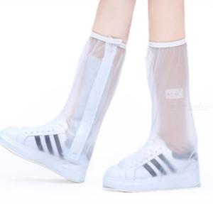 1 Pair Waterproof Rain Reusable Shoes Covers Slip-resistant Zipper Rain Boots Overshoes Shoes Accessories