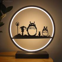 Creative-LED-Decorative-Light-Modern-Metal-Totoro-Lamp-30-X-33cm-18W