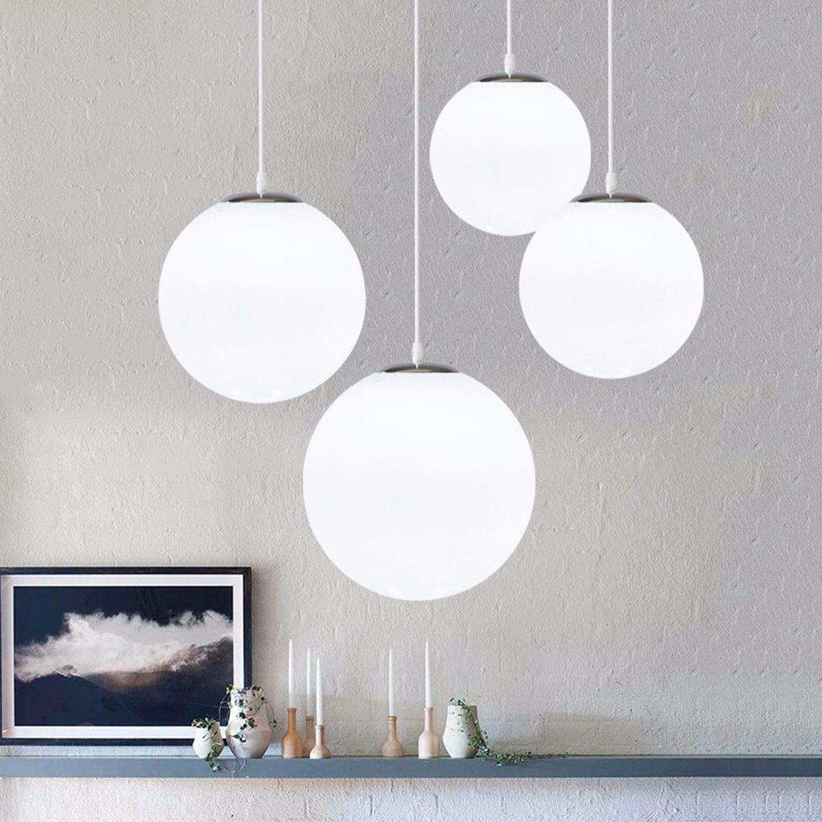 Picture of: Simple Bubble Glass Ball Chandelier Modern Living Room Ceiling Light Fixtures Dealextreme