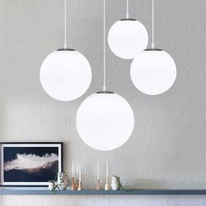 Simple Bubble Glass Ball Chandelier Modern Living Room Ceiling Light Fixtures