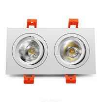 Rectangular-LED-Grille-Lamp-14W-20W-Recessed-Double-head-COB-Downlight