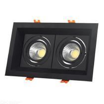 Double-Head-Grille-Downlight-10W-12W-18W-Recessed-LED-Ceiling-Lamp-Fixture