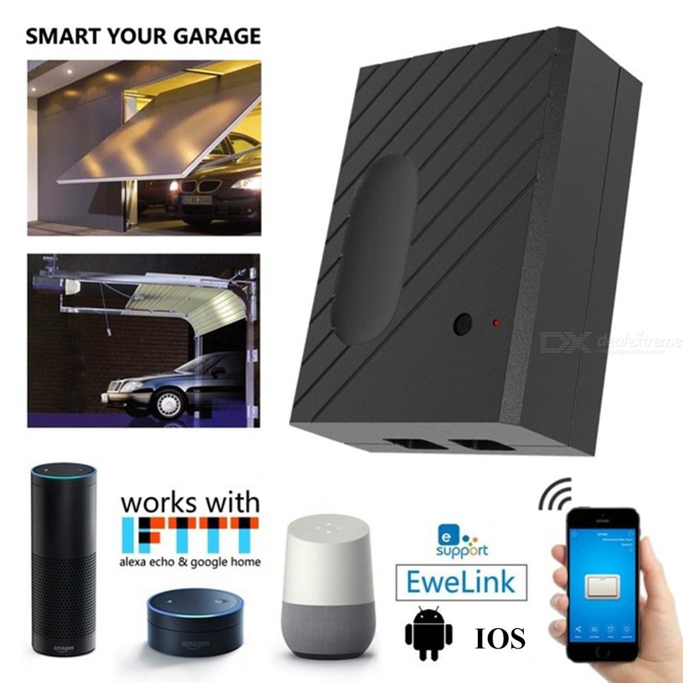 Smart Garage Door Opener Intelligent WiFi Controller For Garage Door
