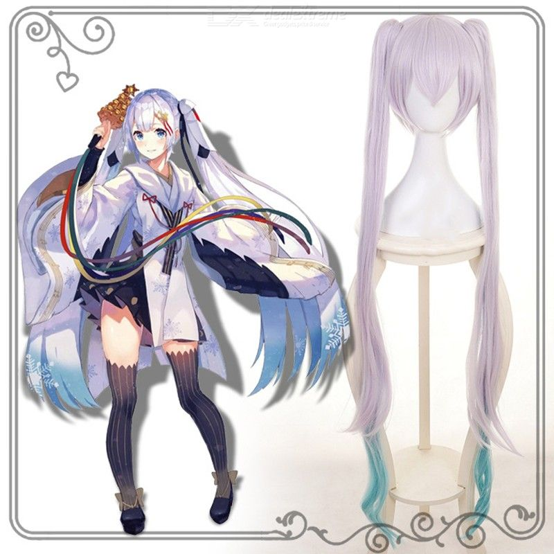 Snow Miku Cosplay Hair Hatsune Miku Anime Costume Wig Cap