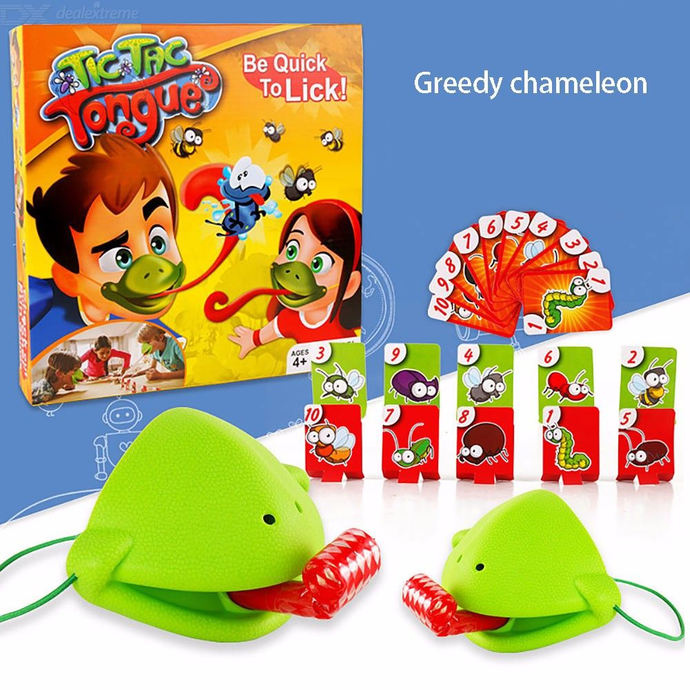 Tic Tac Tongue Be Quick To Lick Board Game Chameleons Eat Mosquitoes Tabletop Toys