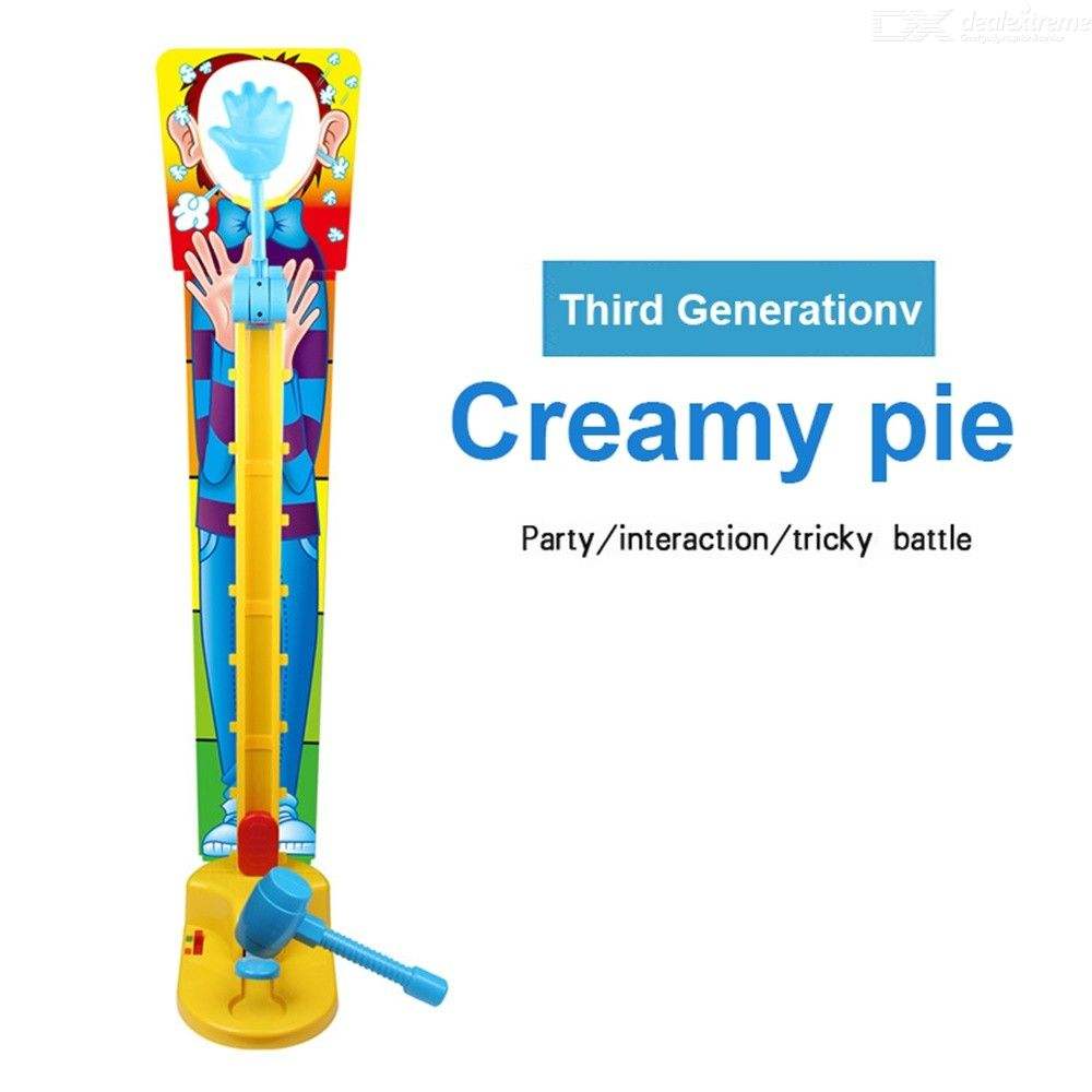 Double People Pie Cream Face Game Funny Gadget Kids Novelty Toy Interactive Family Game