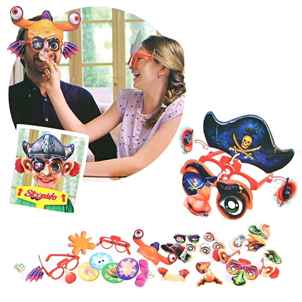 Stoopido Game Silly Face Board Games Assemble Diy Trick Party Family Laughter