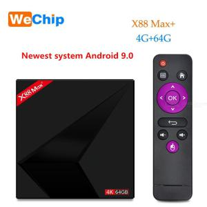 X88 Max Plus RK3328 Penta-kärna TV-box Android 9.0 4 GB RAM 64 GB ROM 2.4G 5G Dubbel Wifi BT V4.0 4K HD HDR10