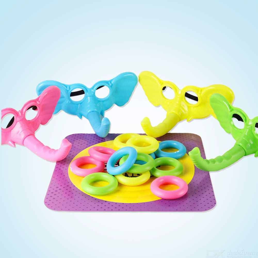Animal Ring Toss Game Tooky Toy Elephant Throwing Ring Children Indoor Sports Toys Puzzle Table Toy