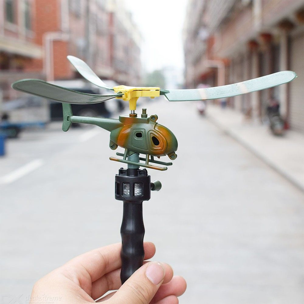 Creative Pulling Cord Helicopter Outdoor Flying Toy For Children